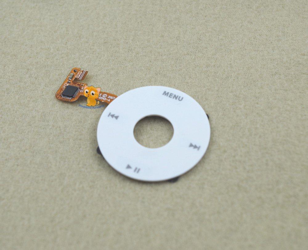 White Color Clickwheel Click Wheel Flex Ribbon Cable for iPod 6th 7th gen Classic 80GB 120GB 160GB