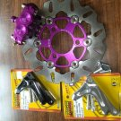 Purple custom HONDA Ruckus 220mm Font brake kit (for use with RRGS forks)