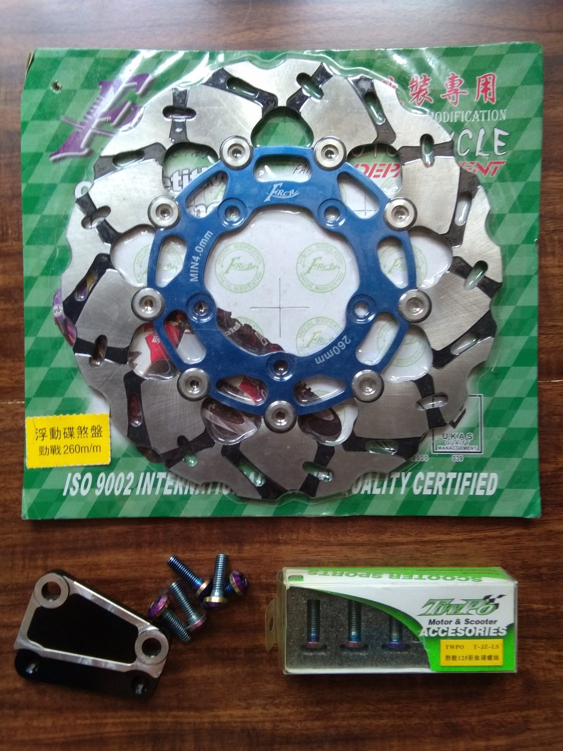 Blue ZUMA 125 260mm Front Brake Upgrade kit