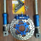 Blue RRGS custom HONDA Ruckus front end disk brake conversion kit