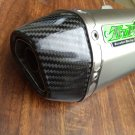 TWPO Stainless steel / Carbon Fiber Dual 1 3/4 inch Exhaust System fo HONDA GROM / MSX