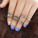 (7) Seven Piece Bohemia Antique Gold, Antique Silver, Ring set in sizes 5-7