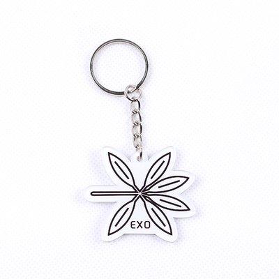 12pcs/lot free shipping exo the war logo keychain