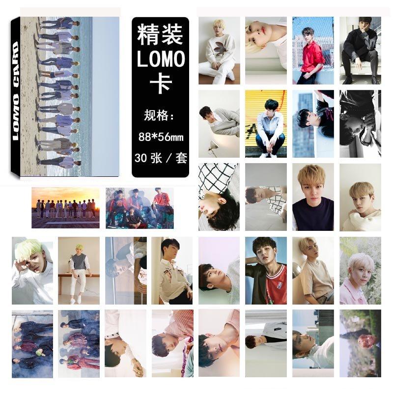 12boxes/lot free shipping seventeen/gfriend/monsta x/mamamoo/blackpink/wanna one lomo card