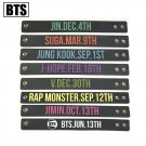 7pcs/lot bts member birthday silicon bracelet free shipping