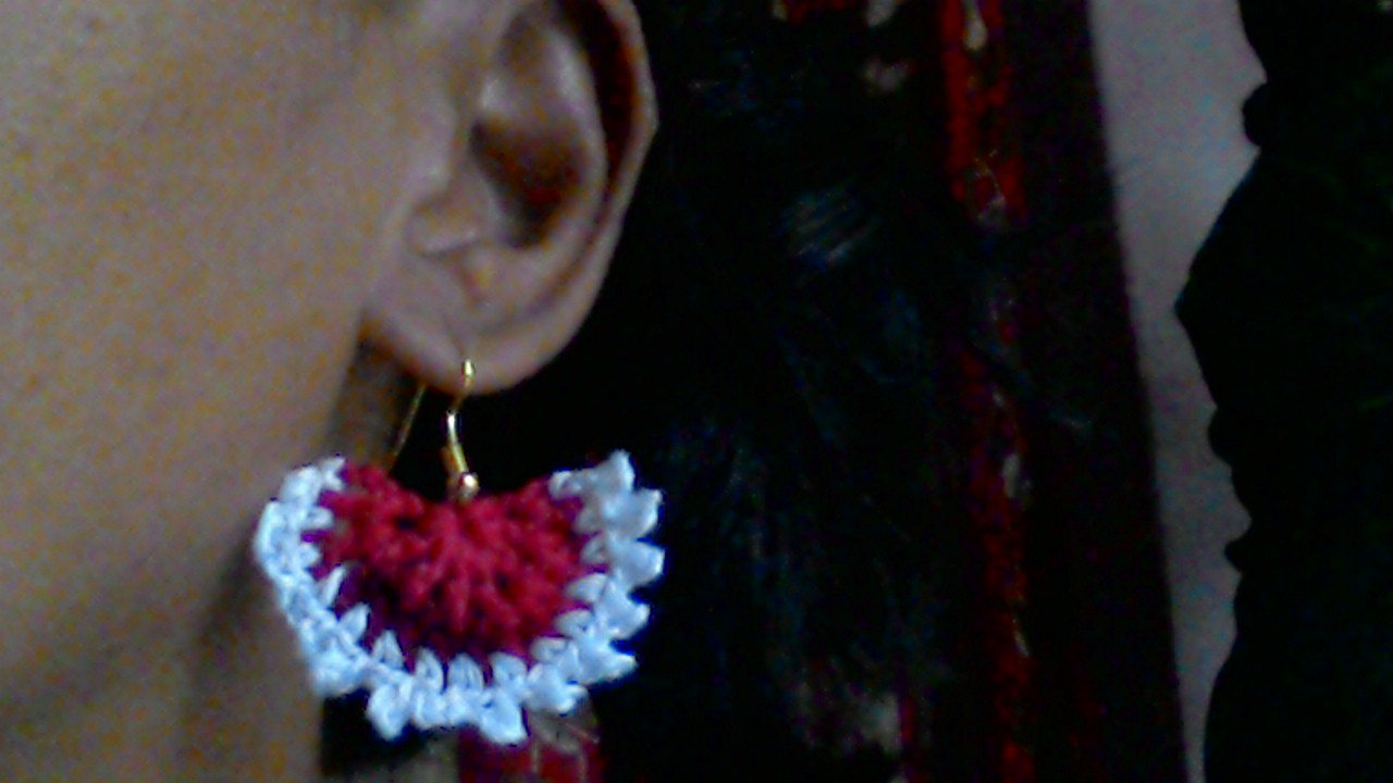 Hand Crocheted Earring