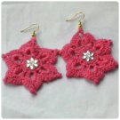 Hand Crocheted star Earring