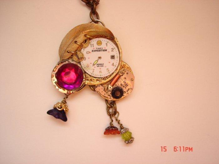 Steampunk Triple necklace