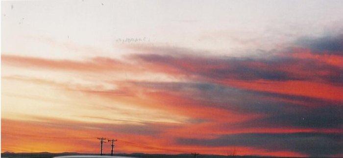 Sunset 5  8 x 10 framed