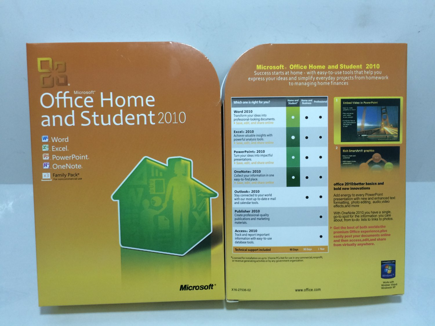 Microsoft Office Home and Student 2010 Family Pack,  (Disc Version)