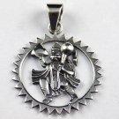 1 Pcs Beautiful Lord Hanuman Design 925 Sterling Silver Oxidize Jewelry Pendant