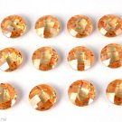Wholesale 10 Pcs Champagne Color Cubic Zirconia Round 8mm Briolette Cut Gemstone