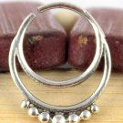 Fabulous 925 Sterling Silver Septum Nose Ring Tribal Jewelry Indian Septum Ring