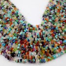 """3 Strands Synthetic Multi Chips Endless Size 14"""" Long Smooth Gemstone Beads"""