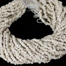 """5 Strands Necklace Making Synthetic White Coral Chips Uncut Beads 14"""" Long"""