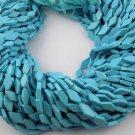 "5 Strands Synthetic Blue Turquoise 4x10-6x13mm Rhombus Shape Gemstone 13"" Long"