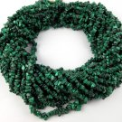 "2 Strands Natural Malachite Chips Beads Strands 34"" Long Uncut Freeform Bead"