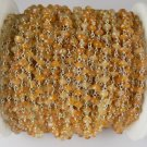 5 Feet Citrine Smooth 925 Silver Plated 3-4mm Gemstone Rosary Beaded Chain