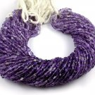 """5 Strand Shaded Amethyst Faceted Pear Shape Gemstone Beads 4x6-5x7mm 13.5"""" Long"""