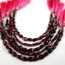 """1Strand Natural Garnet Nugget Shape Approx- 7X6-11X6mm Faceted Gemstone Beads 7"""""""