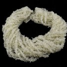 "2 Strands Natural White Moonstone Uneven Chips 34"" Long Jewelry Making Beads"