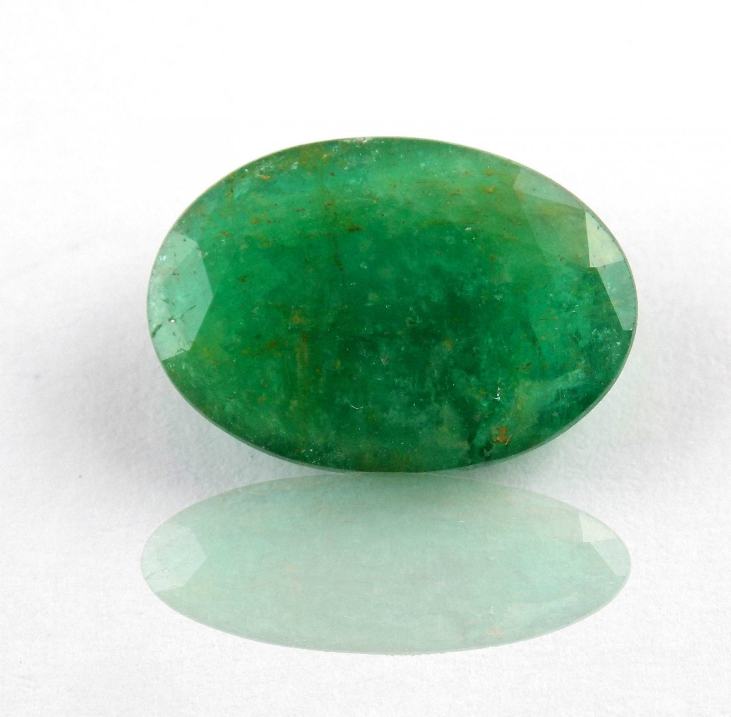 1 Pcs Natural Emerald Oval 9x13mm 3.69Cts Faceted Cut Handmade Making Gemstone
