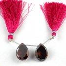 2 PCs Red Garnet Cubic Zirconia Gemstone Briolette 15X20mm Beads Jewelry