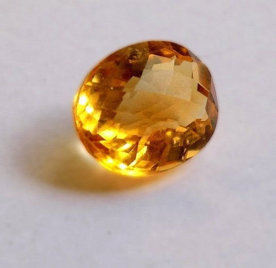 1 Pcs AAA Natural Citrine Oval 10x12mm 5.35Cts Faceted Cut Rare Loose Gemstone