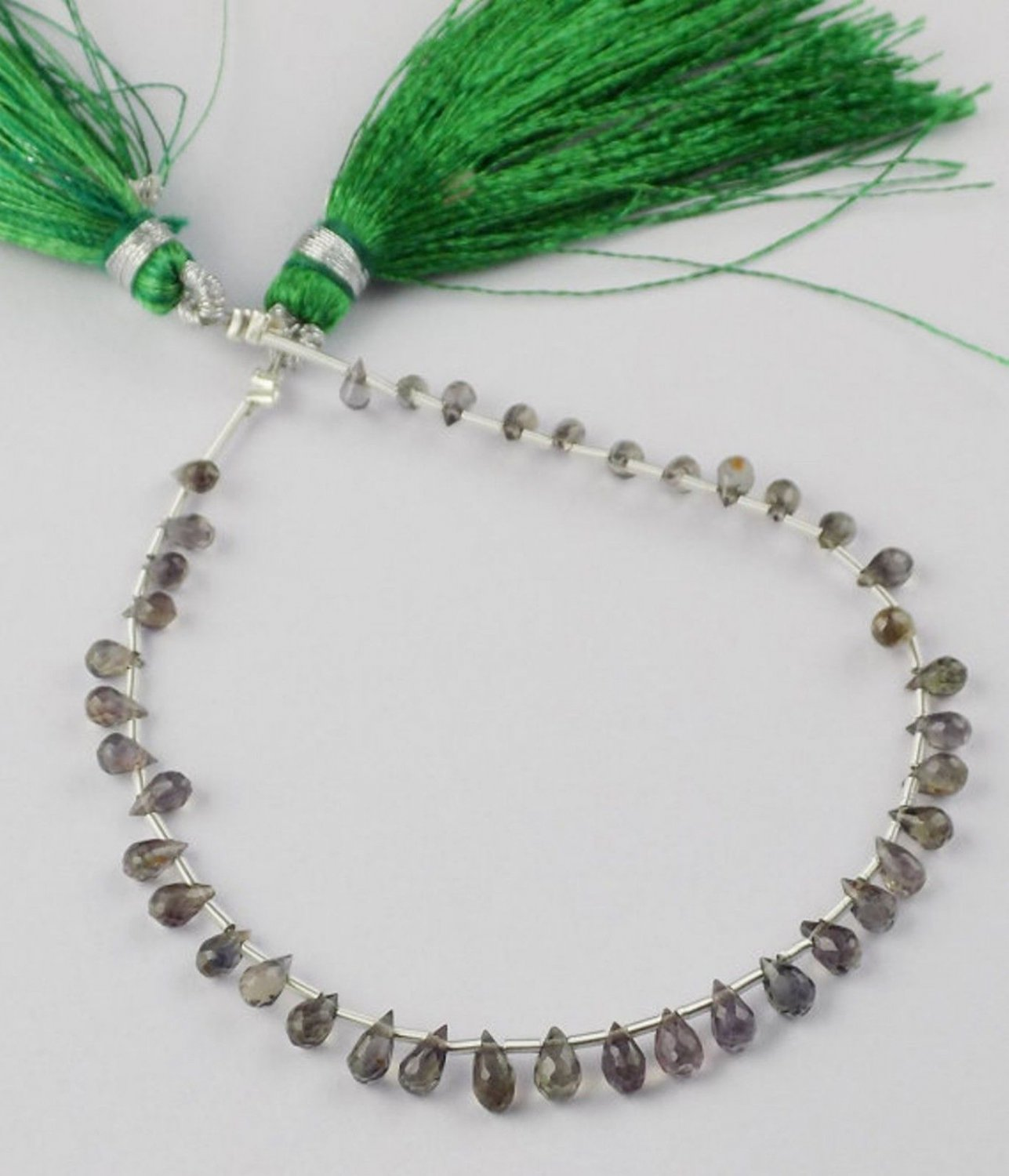 """1 Strand Natural Sapphire Drops 2.5x4-3.5x5mm Faceted 6.5"""" Long Briolette Beads"""