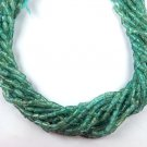 """5 Strands Natural Apatite Gemstone Tube Shape 4x3mm Smooth Beads 13.5"""" Long"""