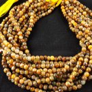 """5 Strand Lovely Tiger's Eye Smooth Round Beads Gemstone 5-5.5mm 13"""" Long Jewelry"""
