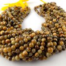 """5 Strand Lovely Tiger's Eye Smooth Round Beads Gemstone 6-6.5mm 13"""" Long Jewelry"""