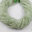"3 Strands Green Amethyst Gemstone Faceted Rondelle Beads Size 4.5-5mm 13.5"" Long"