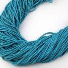 "20 Strands Sleeping Beauty Turquoise 1.75X.5mm - 2X2.25mm Heishi Beads 12"" Long"