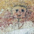 Cueva#1 Cemie-- photograph of Taino cave painting from the Dominican Republic