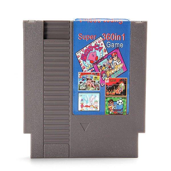360 in 1 Super Game 72 Pin 8 Bit Game Card Cartridge for NES Nintendo