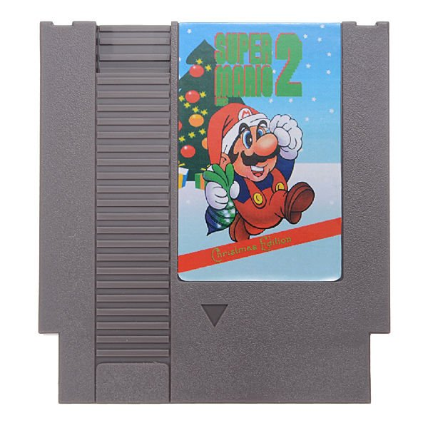 Super Mario Bros. 2 - Christmas Edition 72 Pin 8 Bit Game Card Cartridge for NES