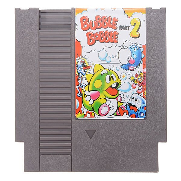 Bubble Bobble Part 2 Super Game Nintendo NES 8 Bit Cartridge 72 Pin Ntsc Pal