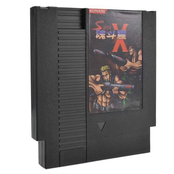 Super Contra X 72 Pin 8 Bit Game Card Cartridge for NES Nintendo