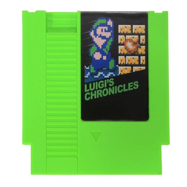 Luigi's Chronicles 72 Pin 8 Bit Game Card Cartridge for NES Nintendo