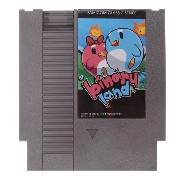 Binary Land 72 Pin 8 Bit Game Card Cartridge for NES Nintendo