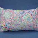 Pastel Flower Paisley Travel Pillow New with Tag