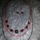Midnight & Rubies Necklace Set