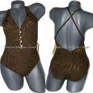 NWT ST. JOHN Swim Collection swimsuit tank swirl 4 maillot tank 1 pc cross strap