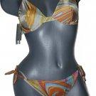 NWT LA PERLA Oceano Italy bikini swimsuit swirl 46 10 designer Italy underwire