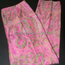 NWT RALPH LAUREN Black Label silk paisley pants slacks cropped capris $758 8