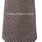 New BVLGARI Italy 100% SILK tie necktie woven luxury 7 fold brown multi mens