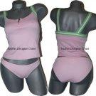 NWT JUICY COUTURE tankini swimsuit alva pink green M bikini 2pc