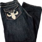 NWT LAGUNA BEACH Santa Monica Jeans leather skull 42 X 35 boot cut designer