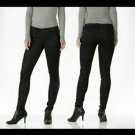 NWT DYLAN GEORGE 24 coated denim black skinny jeans stretch designer ankle